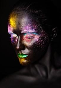 glittery black woman